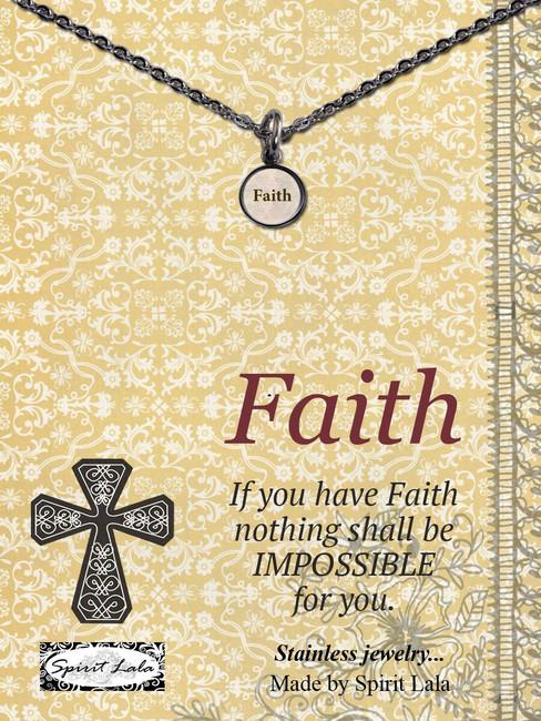 Carded Faith Small Circle Necklace