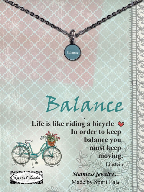 Carded Balance Small Circle Necklace