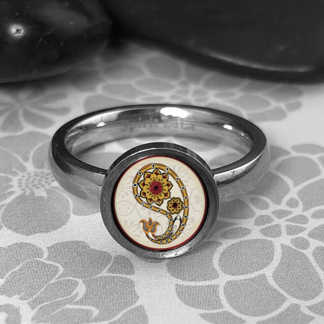 Paisley Stainless Art Ring