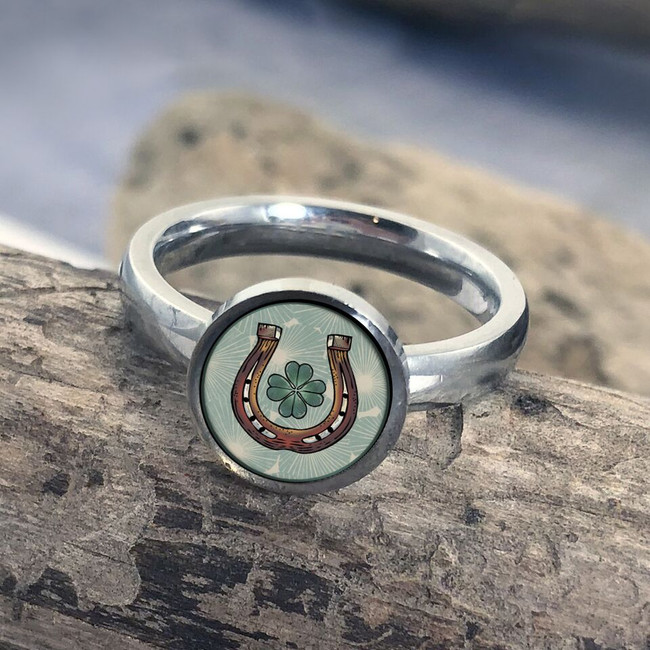 Horse Shoe Stainless Art Ring