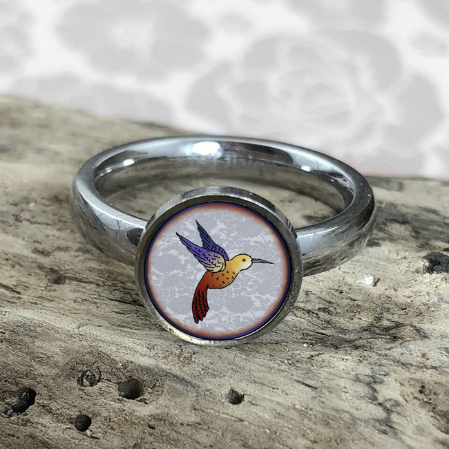Hummingbird Stainless Art Ring