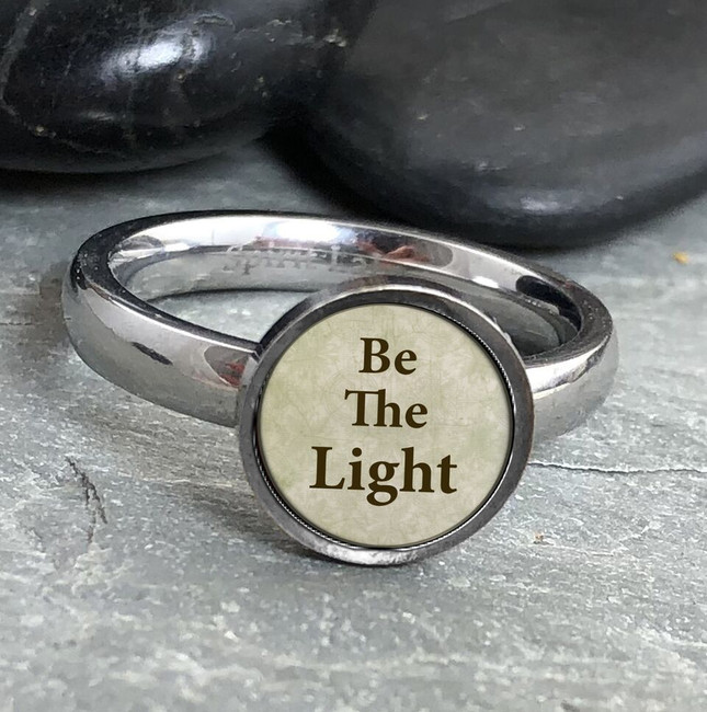 Be the Light Stainless Art Ring