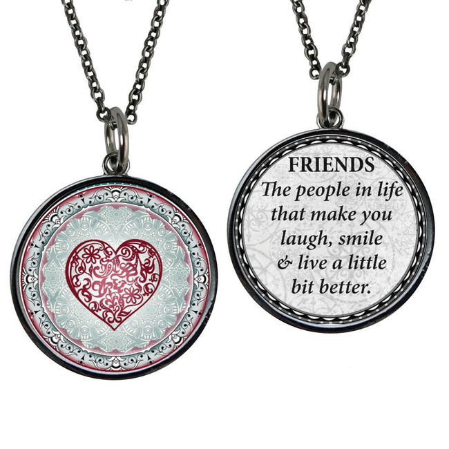 Friends Reversible Circular Pendant