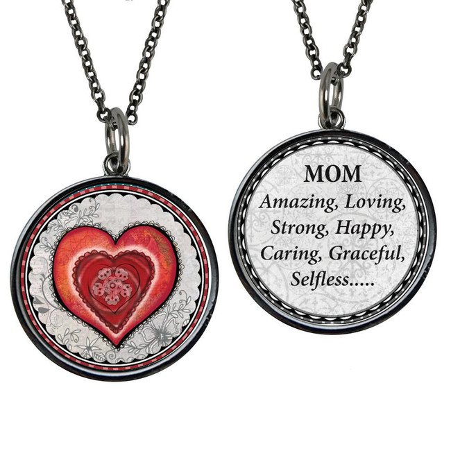 Mom Reversible Circular Pendant