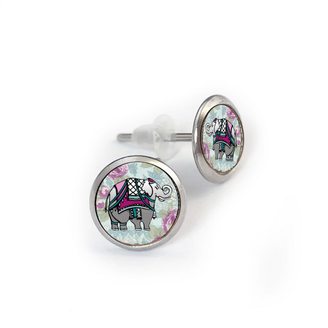 Elephant Stainless Earring