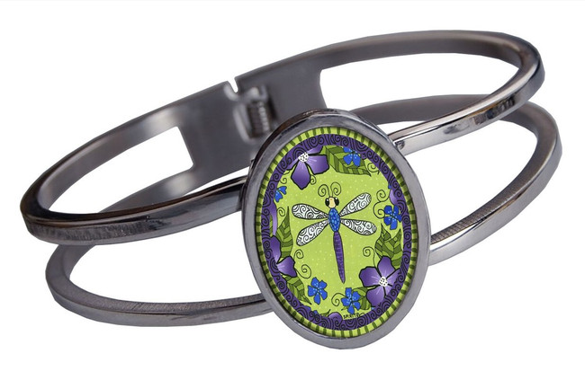 Dragonfly Stainless Cuff Bracelet