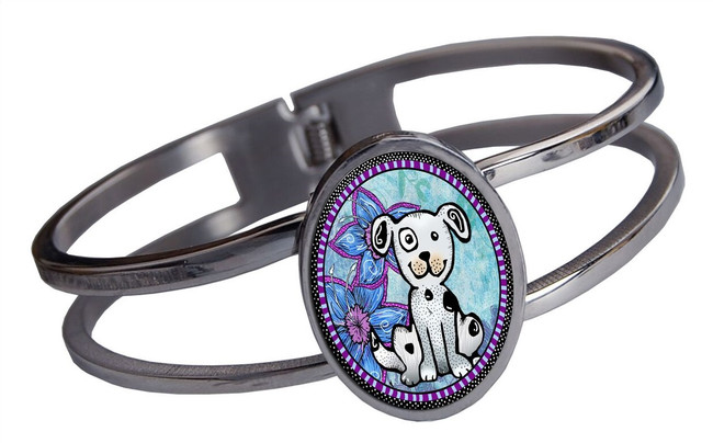 Dog Stainless Cuff Bracelet