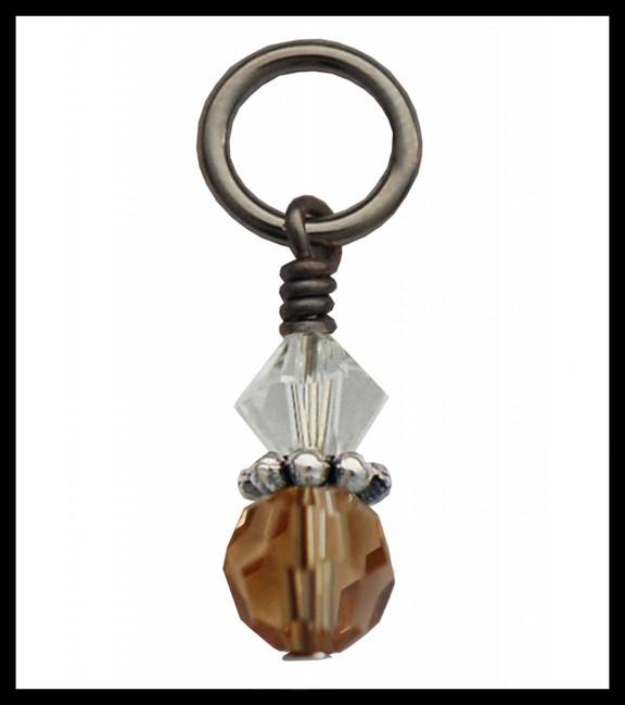 Amber Crystal Charm