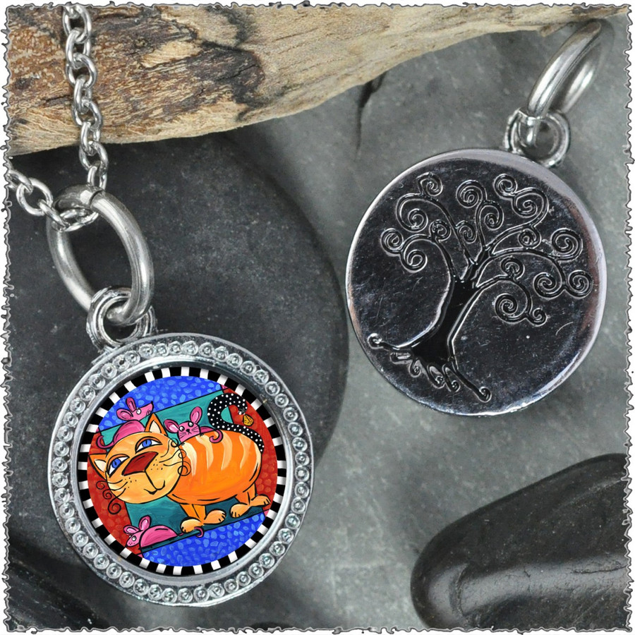 "Cat & Mice ""Tree"" Pendant"