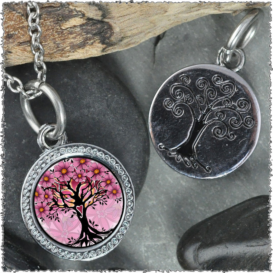 "Tree of Life Pink ""Tree"" Pendant"