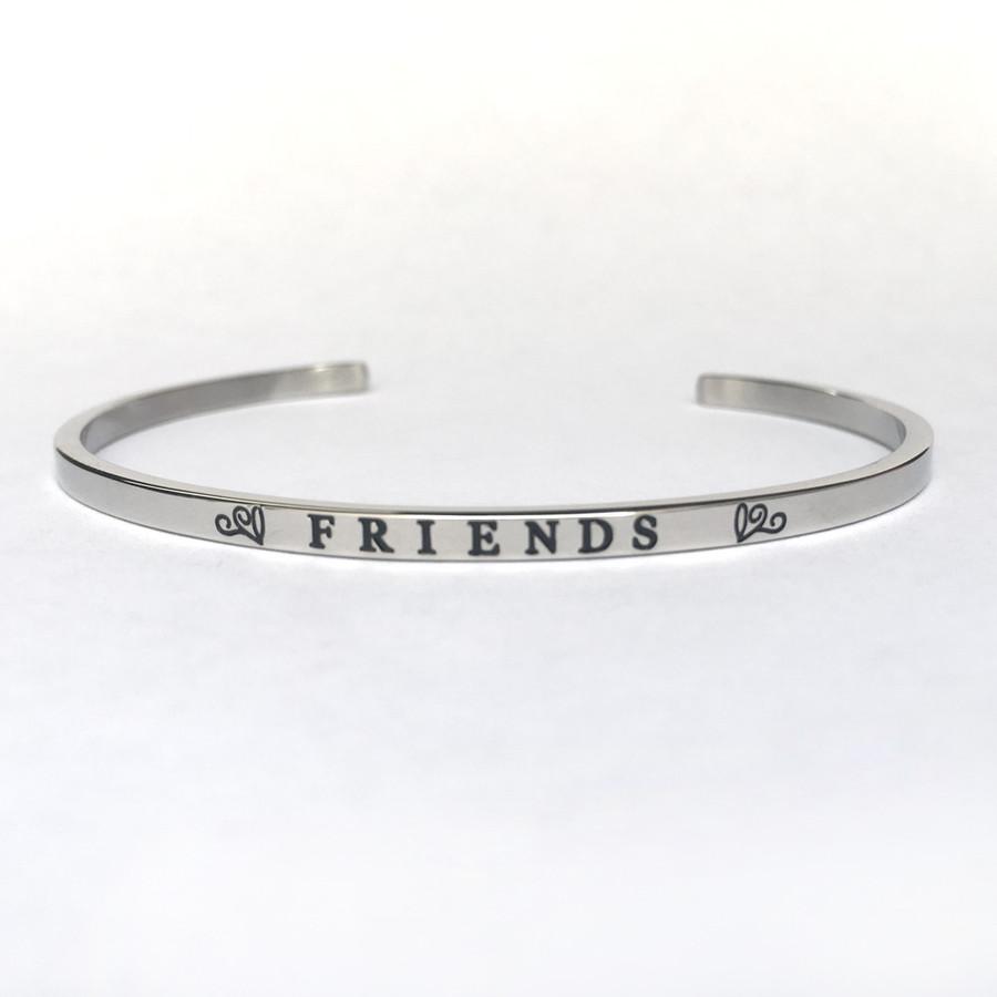 """""""FRIENDS"""" Stainless Steel Cuff Bracelet"""