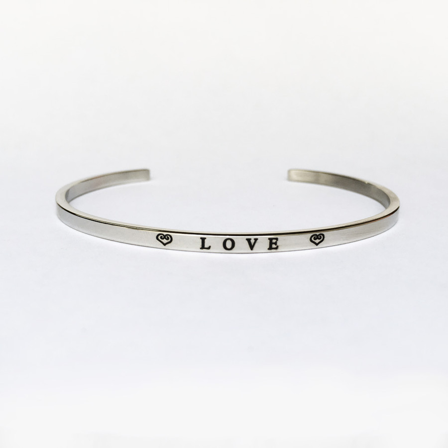 """LOVE"" Stainless Steel Cuff Bracelet"