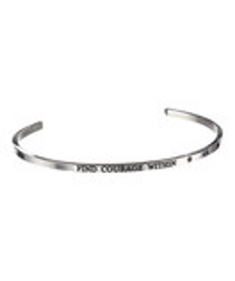 """FIND COURAGE WITHIN"" Stainless Steel Cuff Bracelet"