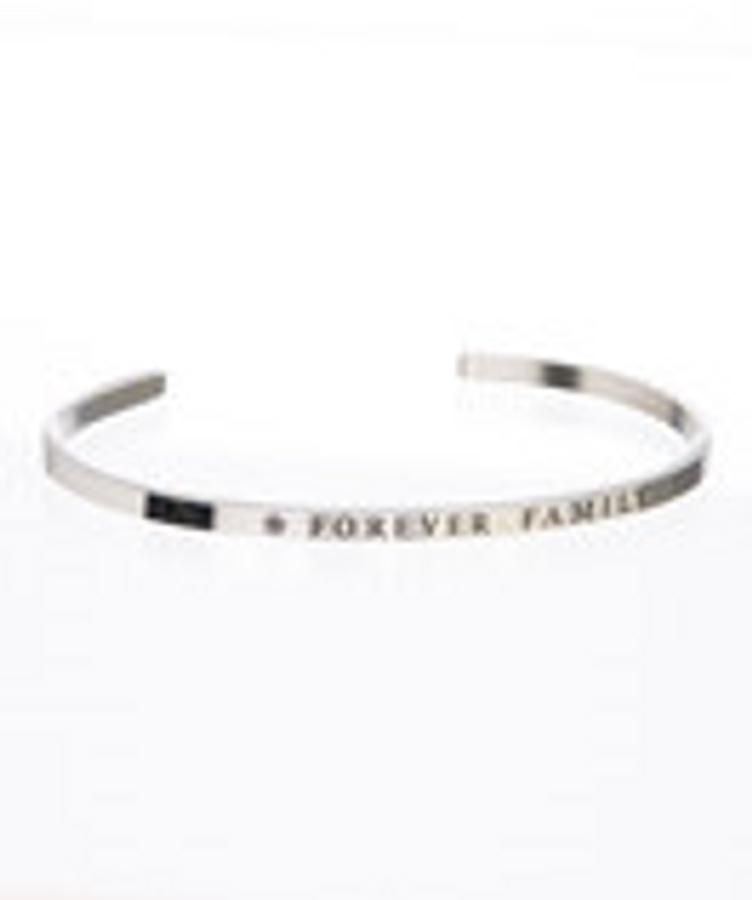 """""""FOREVER FAMILY"""" Stainless Steel Cuff Bracelet"""
