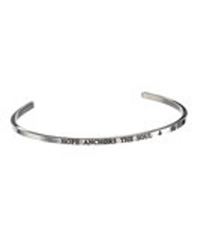 """HOPE ANCHORS THE SOUL"" Stainless Steel Cuff Bracelet"