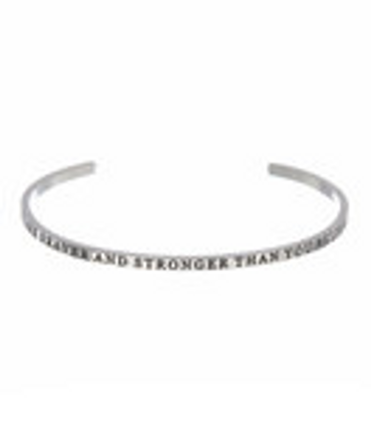 """""""YOU ARE BRAVER AND STRONGER THAN YOU BELIEVE"""" Stainless Steel Cuff Bracelet"""