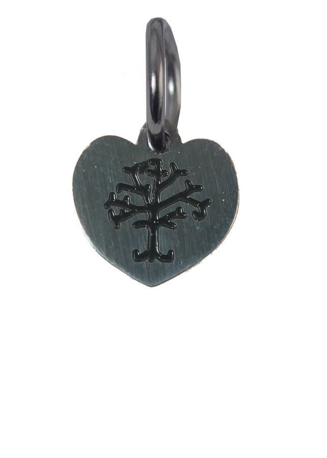 Heart with Tree of Life Stainless Steel Charm