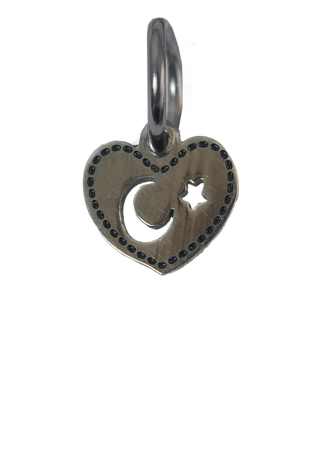 Moon Star Charm (Stainless Steel)