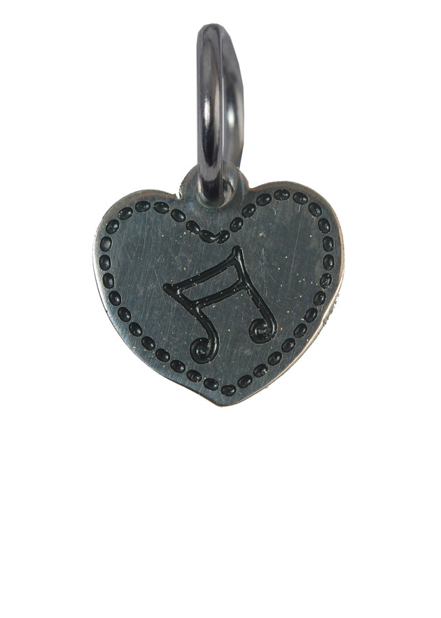 Music Heart Charm (Stainless Steel)