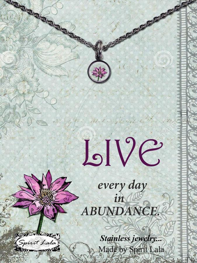 Carded Lotus Small Circle Necklace