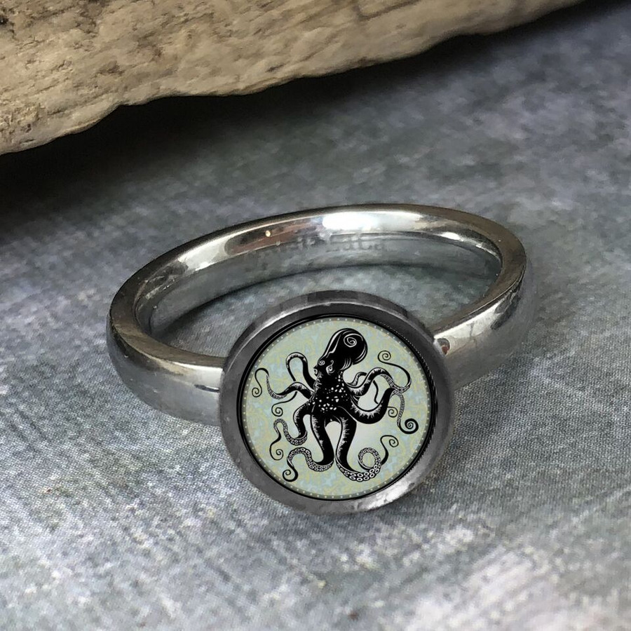 Octopus Stainless Art Ring