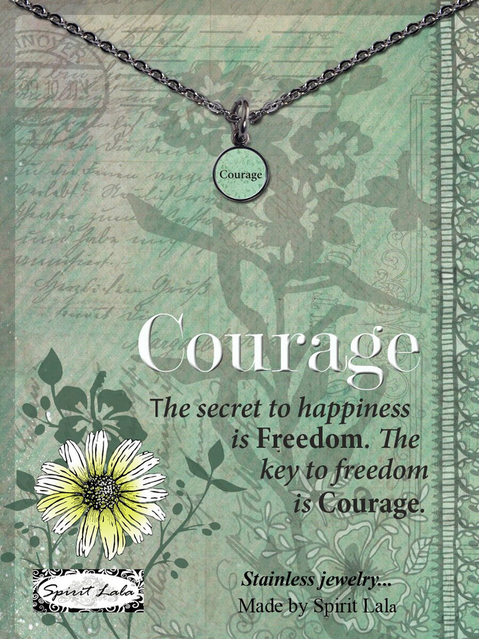 Carded Courage Small Circle Necklace