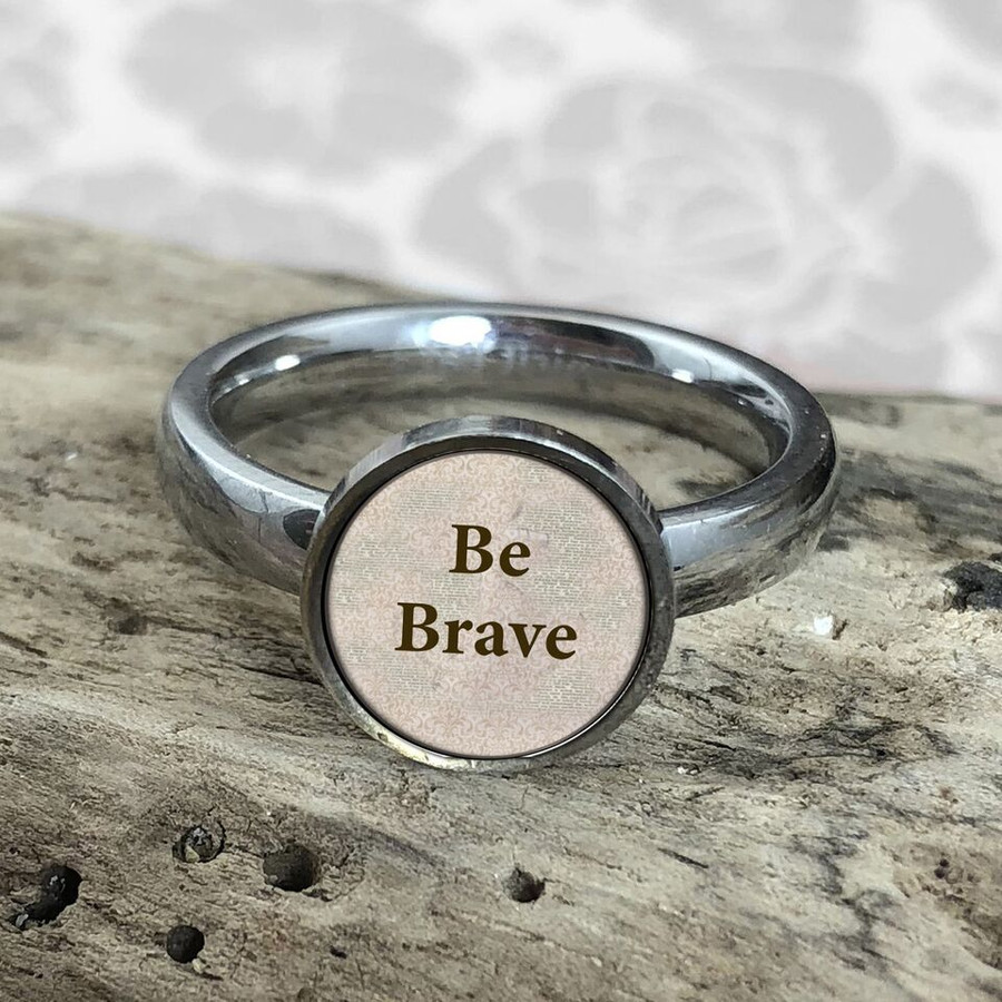 Be Brave Stainless Art Ring