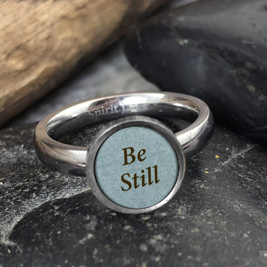 Be Still Stainless Art Ring