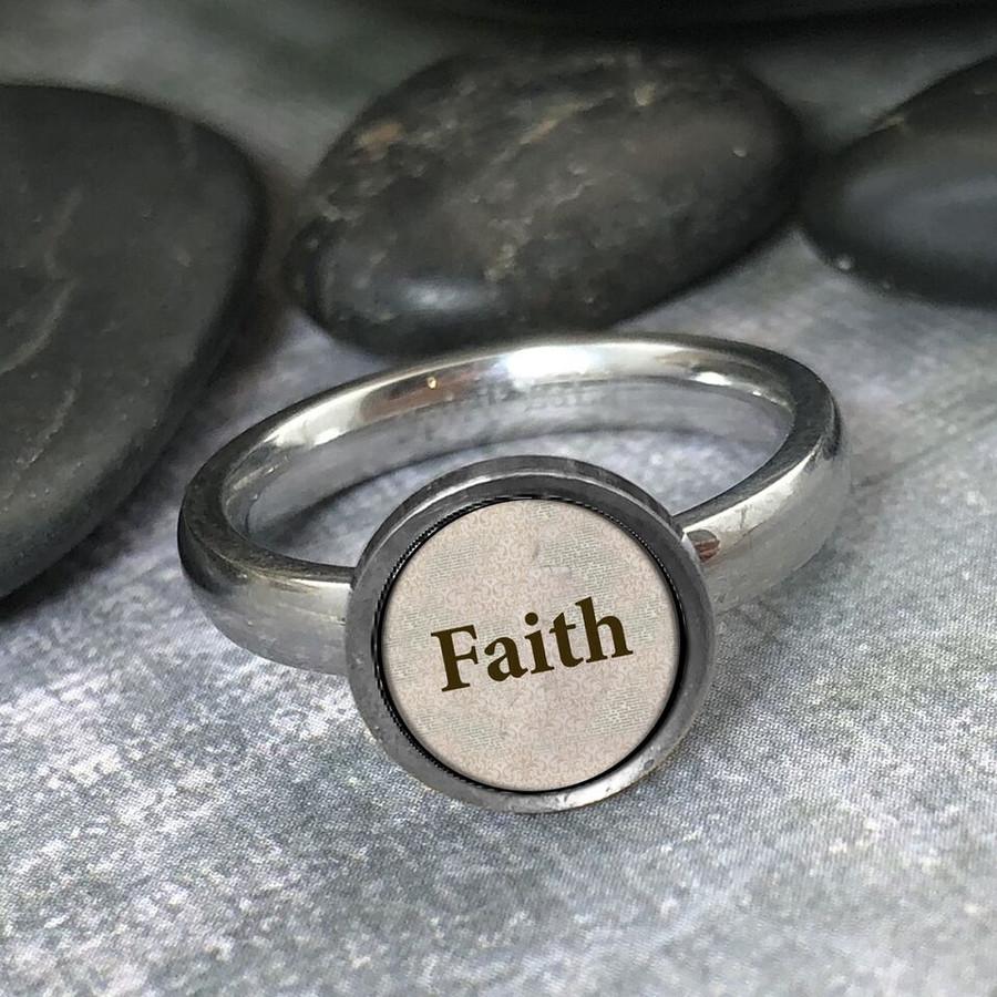 Faith Stainless Art Ring