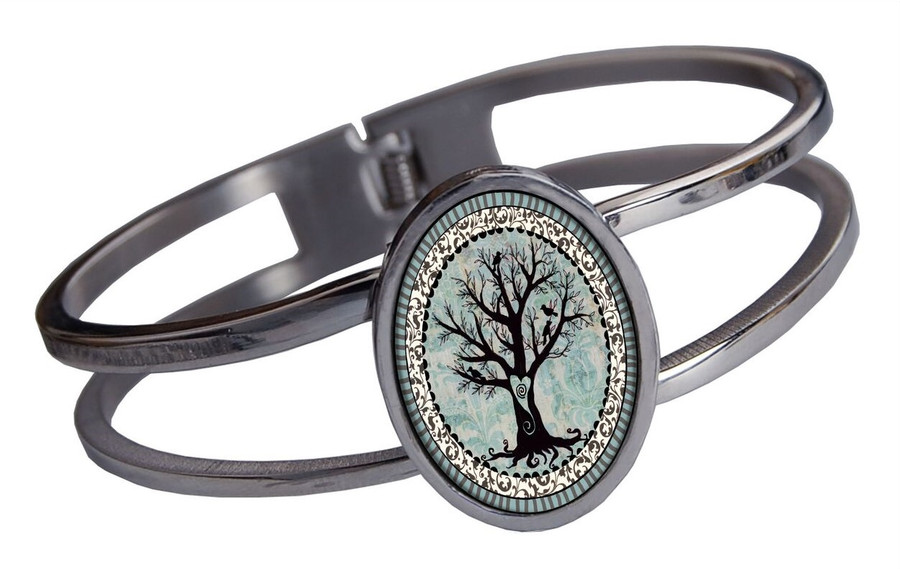 Tree of Life Stainless Cuff Bracelet