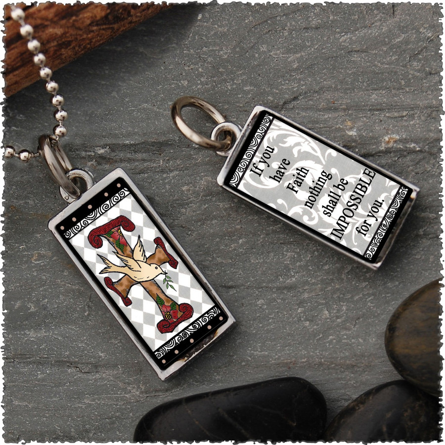Faith Reversible Rectangular Pendant