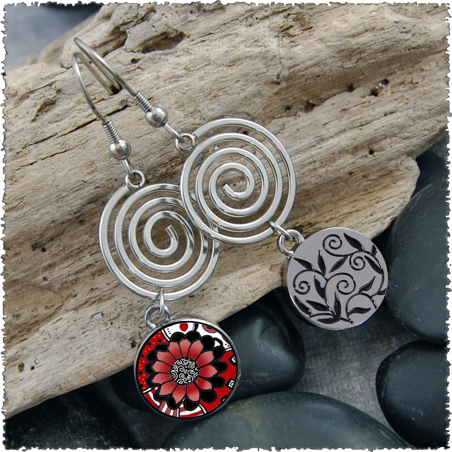 Circle Spiral Earrings