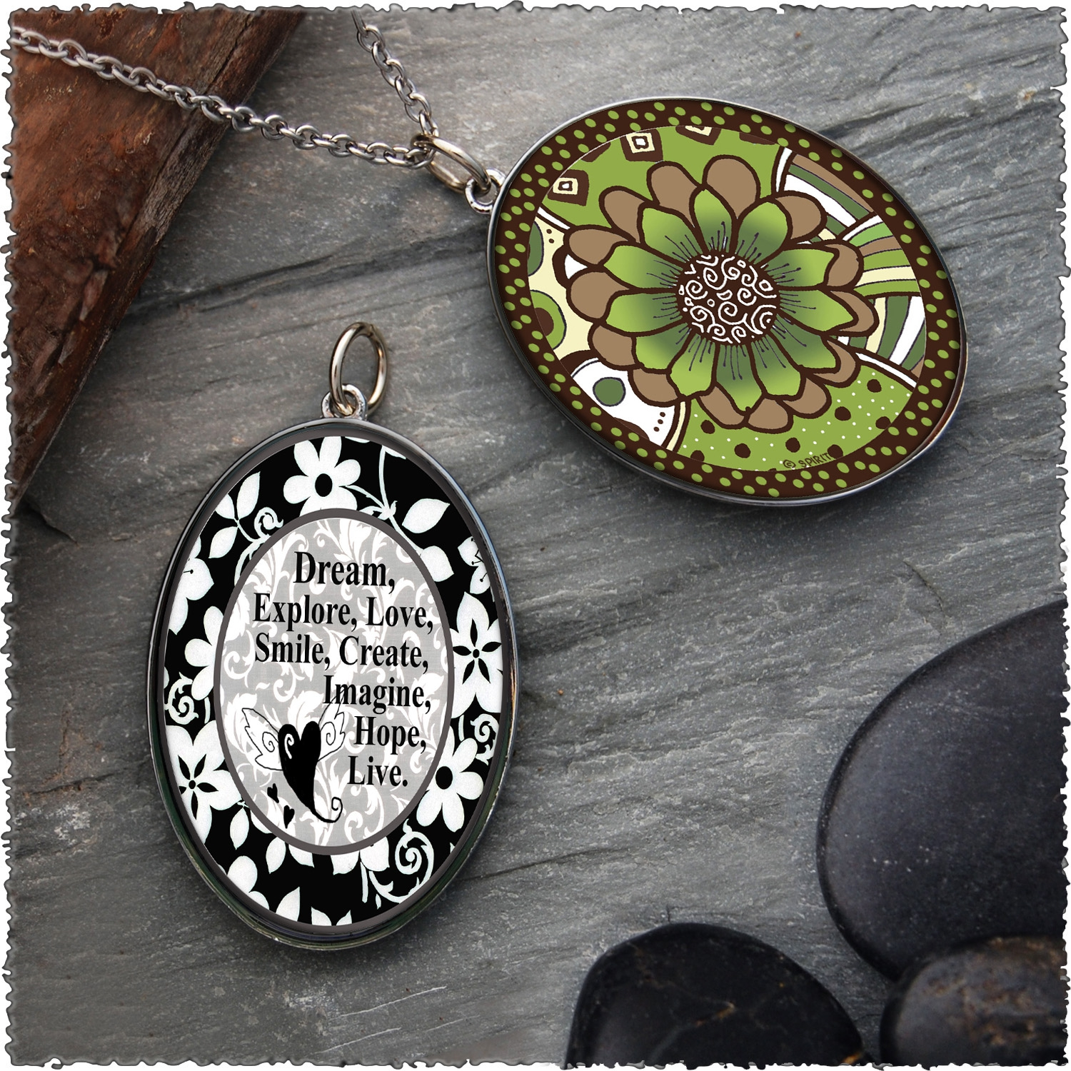 Oval Pendants