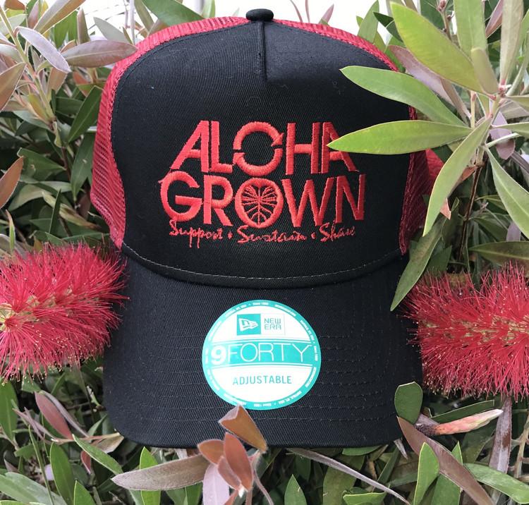 "Aloha Grown New Era ""Red"" Cap"