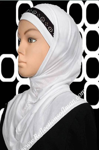 Al Amira  White Eve Design Hijab