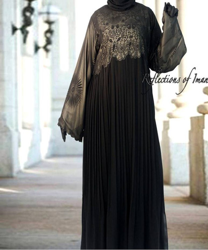 Samara Pleated Black Abaya