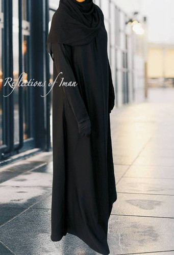 Reflections Basic Black Umbrella Abaya