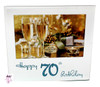 70th Birthday Glass Photo Frame