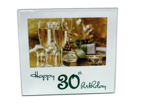 30th Birthday Glass Photo Frame