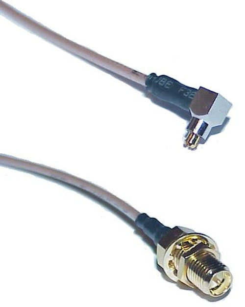 """8"""" Long - MC-Plug to RP-SMA-Female Coaxial Cable Jumper"""