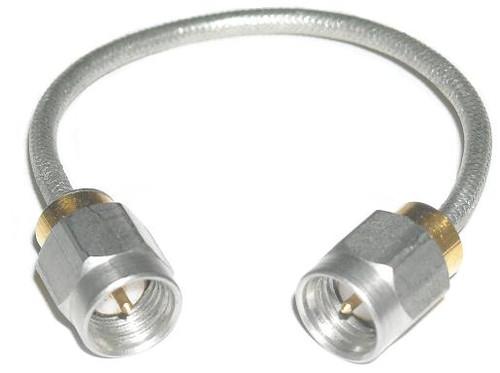 "12"" Long - SMA-Male to SMA-Male RG-402 Semiflex Coaxial Cable"