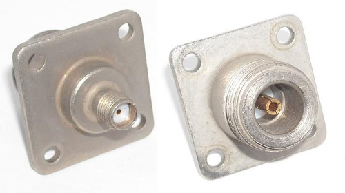 Astrolab N-Female to SMA Female 4-Hole Panel Coax Adapter Connector