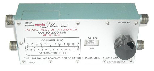 Narda Microwave Model 3712 - Variable Coaxial Attenuator