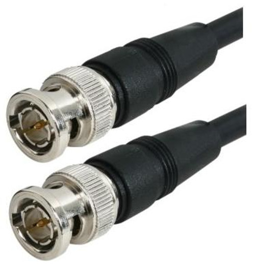 RG-59 Black Molded BNC Stranded Center Conductor Coaxial Cable 15FT