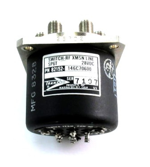 Transco 146C70600 | RF Coaxial Switch | SP6T | DC-18 GHz | 28 VDC