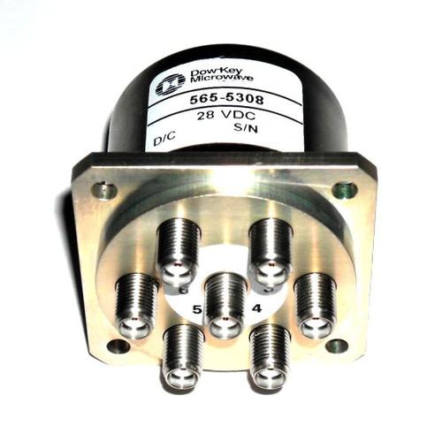 Dow-Key 565-5308   RF Coaxial Switch   SP6T   DC-18 GHz