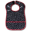 Ariella Handmade Waterproof Spotted Feeding Bib Red Trim