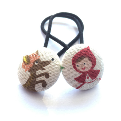 Ariella Red Riding Hood & The Wolf Hair Ties