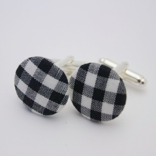 Ariella Rockabilly Check Cufflinks