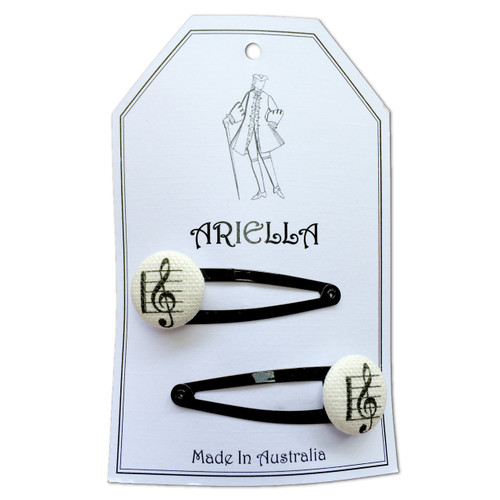 Ariella Music Hair Clips Black